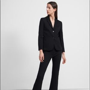 NEW Theory Nichelle Wool Blend Blazer in Black 6